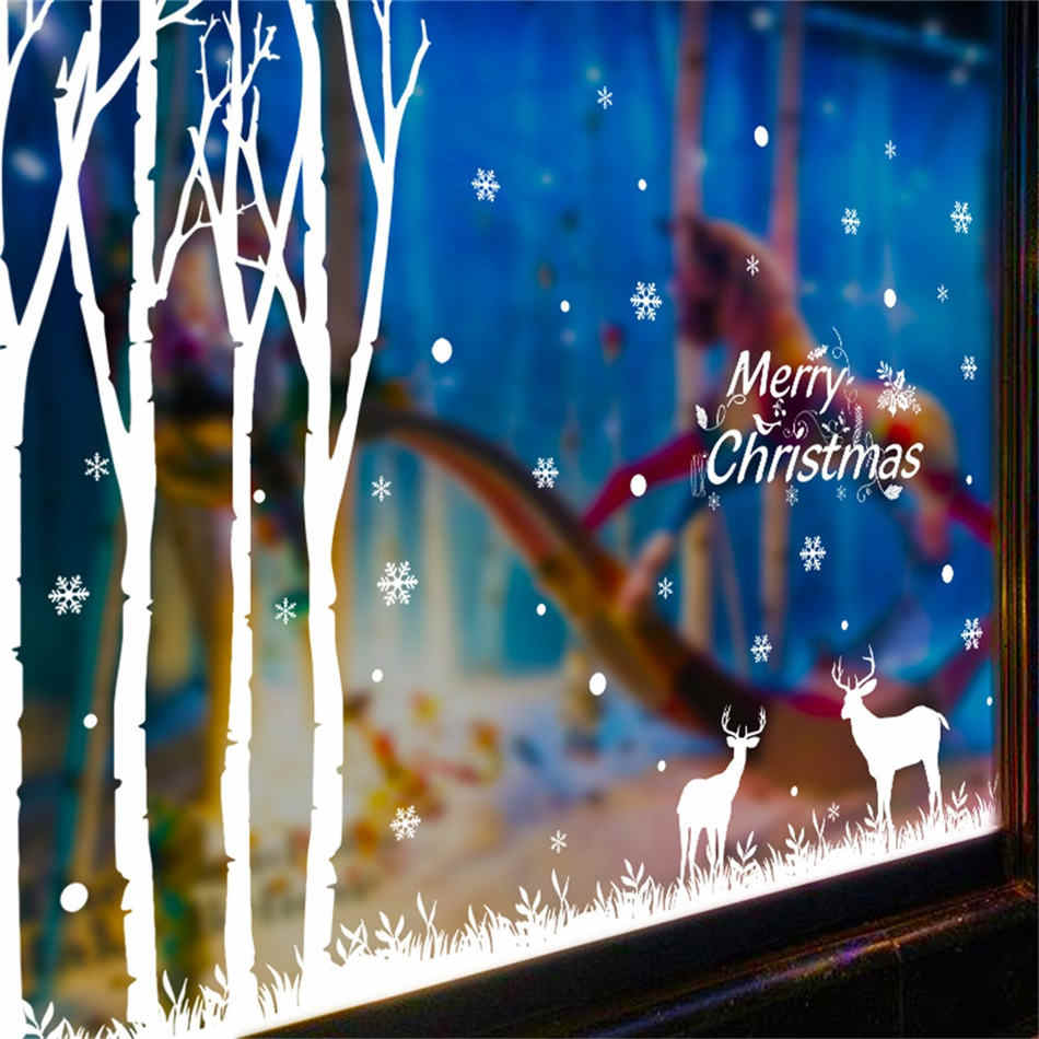 Wondrous Wallpaper Sticker Year Merry Christmas Wall Sticker Home Shop Windows Decor Rooms 50 40Cm Wallpapers For Living Room B Download Free Architecture Designs Scobabritishbridgeorg