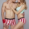 Sbamy 50% off free shipping wholesale bamboo  underwear gift for valentines' day 2 pieces women panties plus 1 piece men boxers
