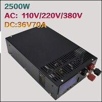 Высокая мощность 2500W36V70A импульсный источник питания 36 В DC Блок питания S 2500 36