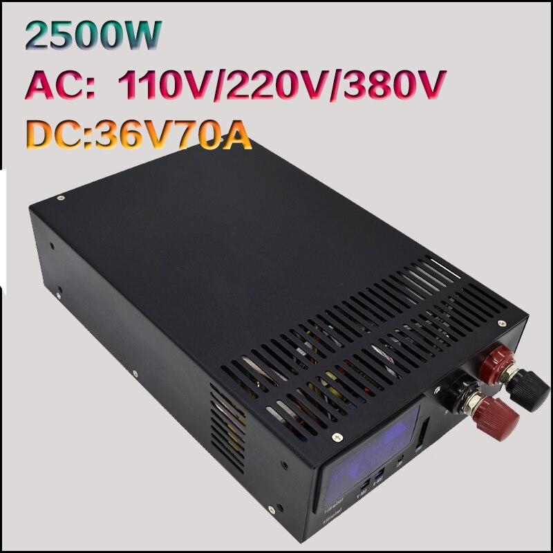 Puissance élevée 2500W36V70A alimentation à découpage 36 V DC alimentation S-2500-36