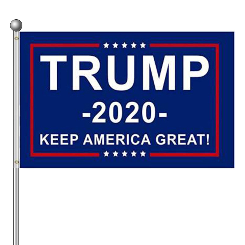 Newest Trump 2020 Flag Double Sided Printed Donald Trump Flag Keep America Great Donald For President USA <font><b>90*150</b></font> cm Flag CA image