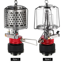 Portable Lightweight Gas Fuel Lantern Gas Lamp Outdoor Camping Hiking Light Detachable Picnic Gas Lamp Extra Mantles Gas Lamp(China)