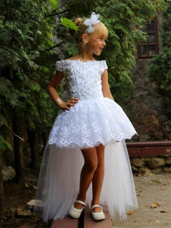 Lovely   Flower     Girl     Dress   For Special Occasion with Beading Lace Puffy Holy First Communion Gowns Customized   Girls   Pageant Gowns