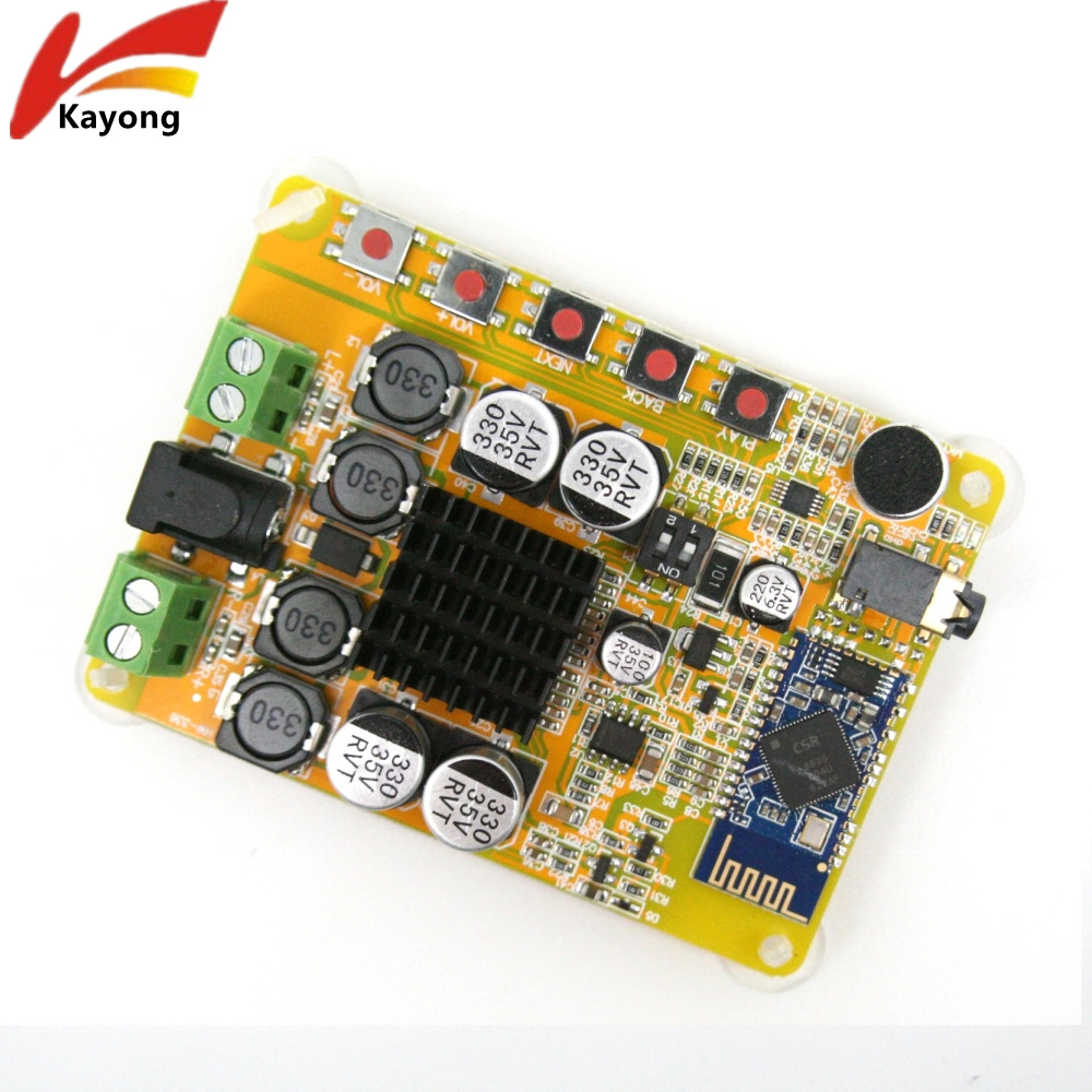 Buy Tda7492 2x50w Wireless Bluetooth 40 Stereo Digital Power Audio Amplifier Circuit Board Blue Silver Module Dual Channel With Microphone Aux 10 25v Dc Beyond Tda7492p From