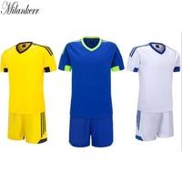Soccer Jerseys Sets Men Women Short Sleeve Blank Football Suit 2017 Team Training Kit Sports Shirts