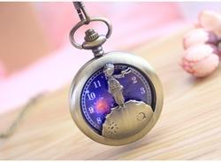 Новый старый для мужчин большой Ретро флип полые карманные часы цепочки и ожерелья кулон браслет женский стол Роскошные Кварцевые часы