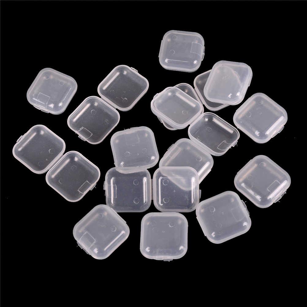 5 pz/lotto Mini Portatile di Plastica Trasparente Piccola Scatola di Tappi Per Le Orecchie Dei Monili del Gancio Contenitore Trasparente Naso/Orecchio Pinze Box
