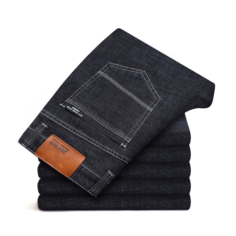Apprehensive New Mens Jeans Elastic Factory Jeans Men Straight Jeans Solid Denim Classic Jeans Slim Regular Casual Trousers Jeans