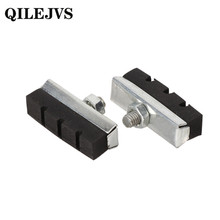 QILEJVS Bicycle V Brake Pads Rubber Shoes Black Blocks Durable MTB Road Bike Accessories