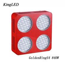 GoldenRing S4 840 W Double Chips Full Spectrum LED Élèvent La Lumière 380-730nm Rapide Pour légumes et Plantes Croissance Floraison LED lumière