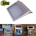 Solar doorplate luz da lâmpada, luz-operado lâmpada led billboard de número da casa, apartamento solar Número luz hv5n