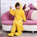 Moda Infantil Crianças Onesie Pijamas de Flanela Animal Dos Desenhos Animados Pikachu Pijama Cosplay Costume Party Meninos Meninas Sleepwear Pijama