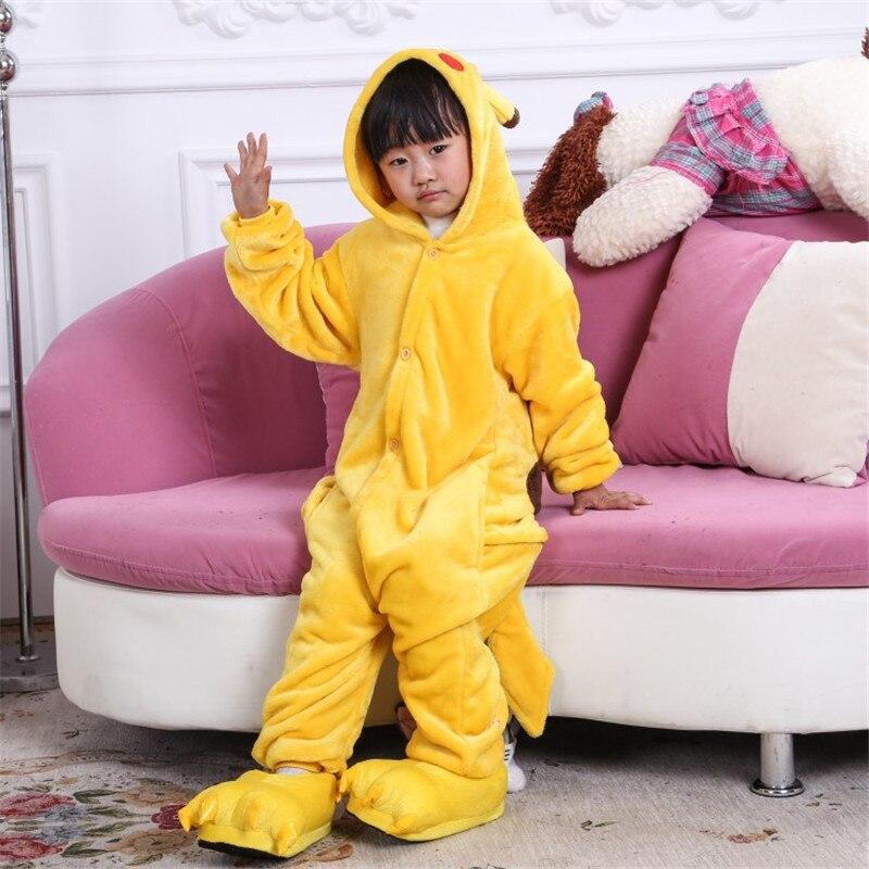 d97dff316b82c Mode Enfants Enfants Flanelle Onesie Pyjamas Animal de Bande Dessinée  Pikachu Pyjamas Cosplay Party Costume Garçons Filles de Nuit Pyjamas