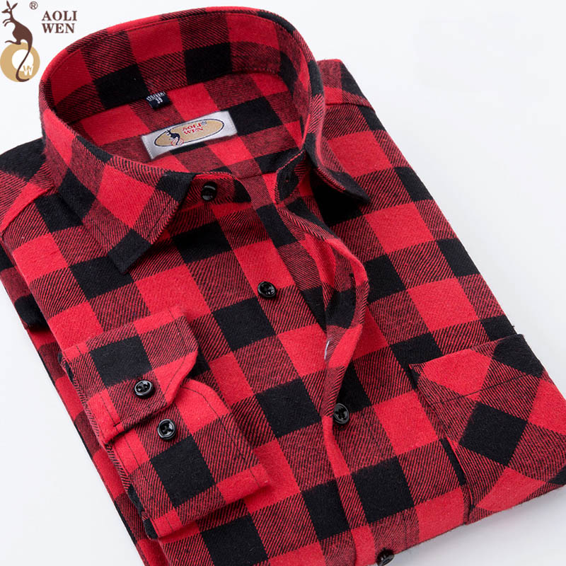 Purple men s printed plaid fashion shirt men casual spring and autumn long sleeves Slim fit