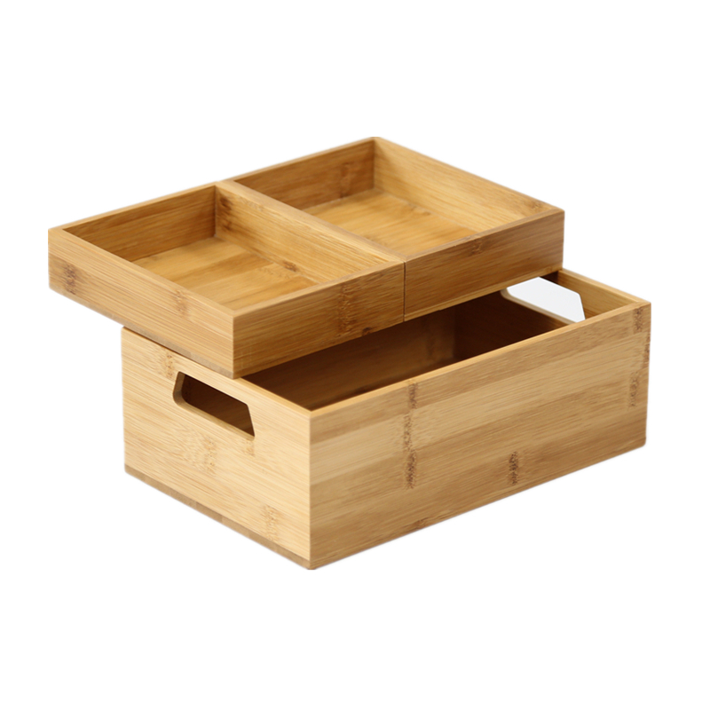 Bamboo Waterproof Bathroom Table Organizer Brief Design Office File Storage Box Eco Natural Wood Dormitory Sundries In Bo Bins From