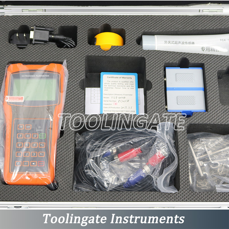 high accuracy portable TUF 2000H ultrasonic flow meter DN50 700mm transducer HM Bracket Transducer and EB 1 Extended Bracket in Flow Meters from Tools