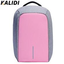 Kalidi женская мода рюкзак противоугонные водонепроницаемый рюкзак для ноутбука внешний usb зарядки сумка женский рюкзак 14 15.6 дюймов