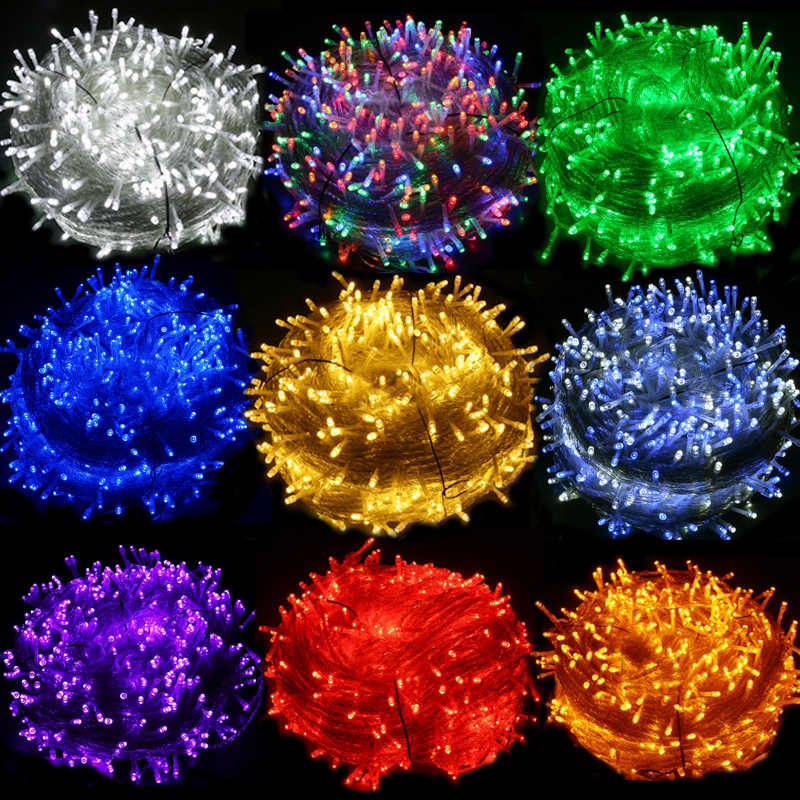 Led String Lights Waterproof Led Light Wedding Christmas New Year Garden Home Outdoor Decoration 10/20/30/50/100M Fairy Garlands