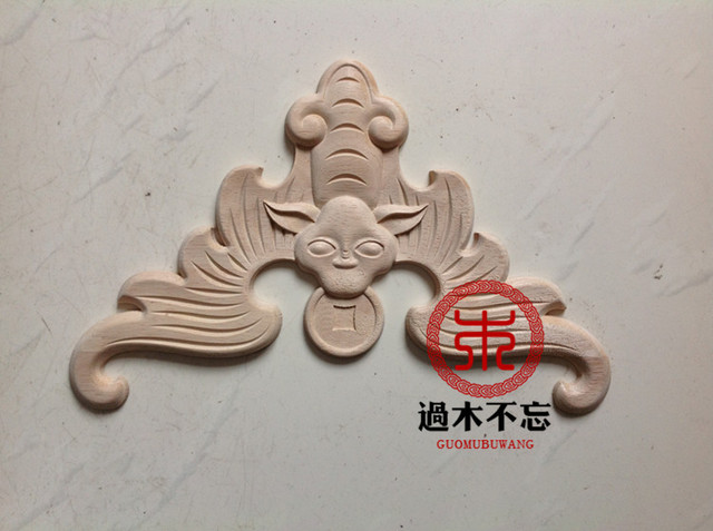 Don T Forget Dongyang Wood Carving Wooden Bat Five Chinese Fl Lique Decal Door Window