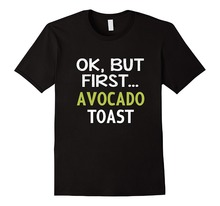 Button Down Shirts Crew Neck Ok, But First Avocado Toast Short Sleeve Office Mens Tee