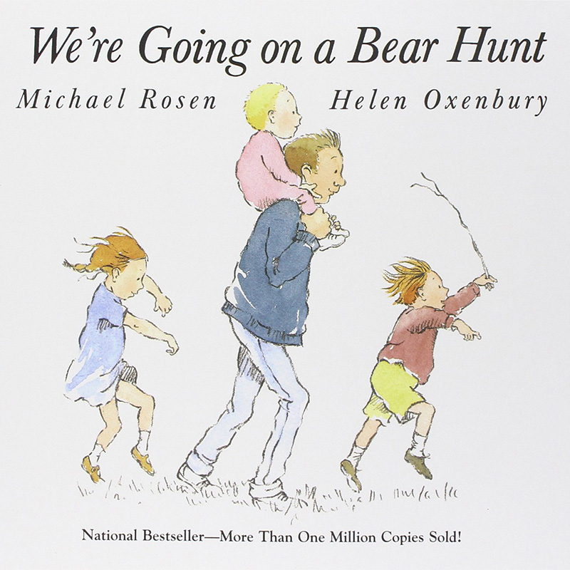 We're Going On A Bear Hunt By Michael Rosen English Stories Picture Card Book For Children Reading Kids Educational Learning