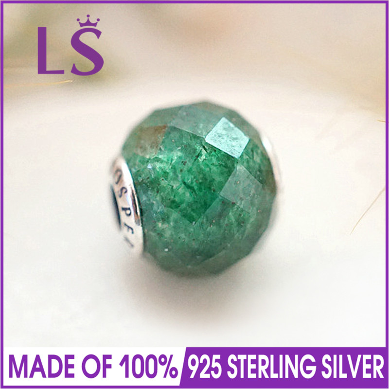 LS 925 Silver Essence PROSPERITY Crystal Beads/Charm Fit Original Essence Bracelets Pulseras Essencia.DIY Charm Jewelry Making