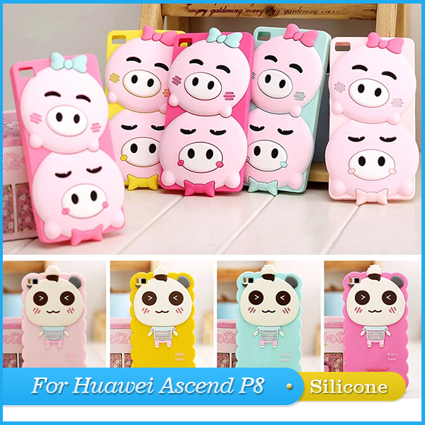 cute huawei cases. cute for huawei ascend p8 case cartoon soft silicon 3d back cover 5.2\ cases