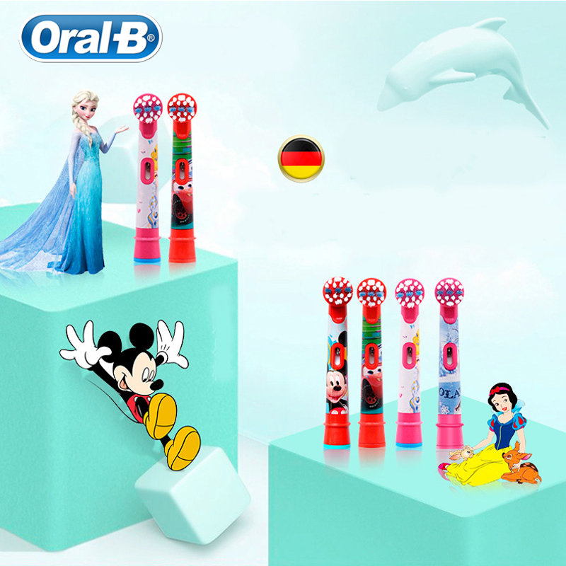 Oral B Repalceable Children brush Heads EB10 Apply to All Oral B Children Rotation Electric Toothbrush Soft Bristle 2pc pack oral b children electric toothbrush heads eb10 soft bristle replacement electric brush heads oral hygiene brush head