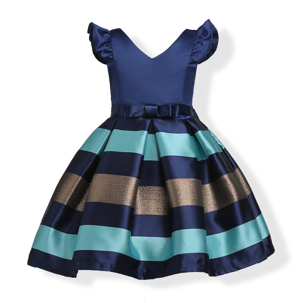 ZT1780 Summer Stripe Princess Dresses Kids Prom Gown Evening Dresss Wedding Party Dress Girls Clothes Tulle Children's Costume teenage girl party dress children 2016 summer flower lace princess dress junior girls celebration prom gown dresses kids clothes