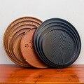 Круглый поднос для чая  японская тарелка из цельного дерева  креативный деревянный поднос для отеля  поднос для хранения фруктов  поднос для...