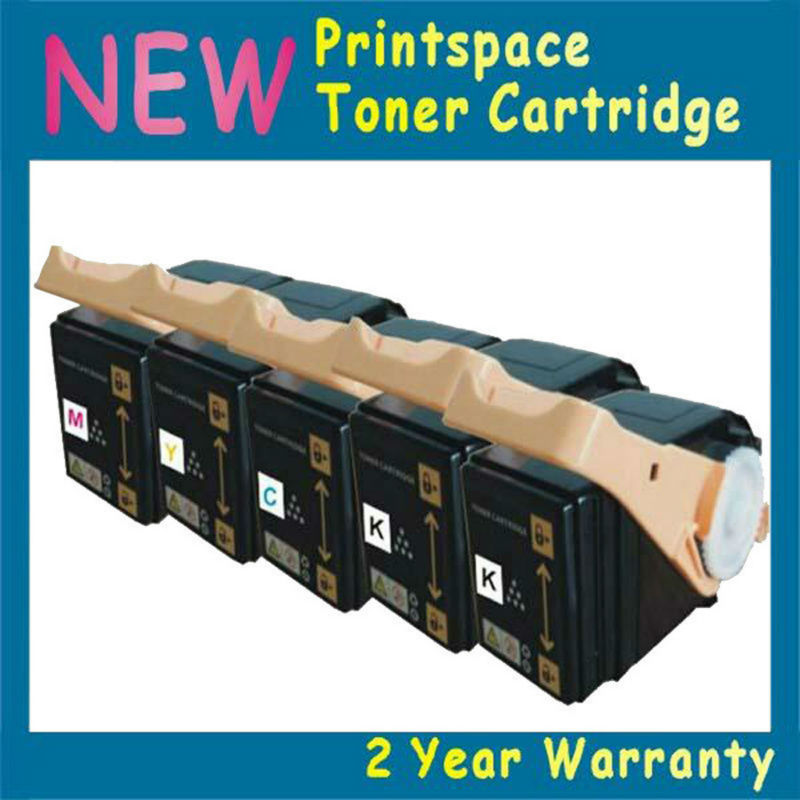 5x NON-OEM High Yield Compatible Toner Cartridges For Fuji Xerox Phaser 7100 7100N 7100DN 2BK+CMY 5x non oem toner refill kit chips compatible for fuji xerox phaser 7100 7100n 7100dn 2bk cmy
