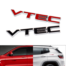 50pcs 3D VTEC Metal Car Sticker for Honda Civic Accord Odyssey Spirior CRV EK9 AE86 Corolla Levin Auto Zinc Alloy Stickers стоимость
