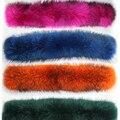 El Tamaño grande de Lujo Real Genuino de Calidad Superior 100% Natural Color de Piel de Mapache Con Capucha Recorte Cuello Bufandas de La Bufanda de La Estola