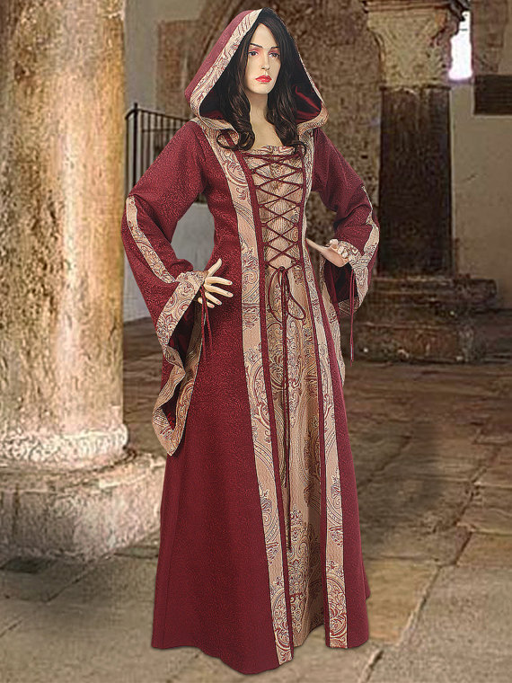 Popular Hooded Medieval Dress-Buy Cheap Hooded Medieval Dress lots ...