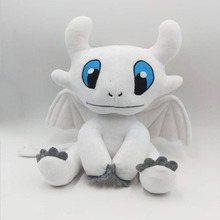 How to Train Your Dragon 3 Plush Toy Light Fury Soft White Stuffed Doll Birthday Gift 25cm For Action Figures