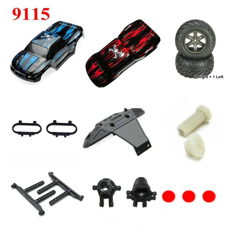 RC Car JY 9115 RC Monster Truck Spare Parts Main Motor,Tires,Battery,Transmitter,Receiver,Car Cover Backup Parts SJ Series