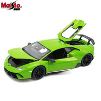1:18 Diecast Sports Car Model For LAMBORGHINIed HURACAN PERFORMANTE Simulated Alloy Car toys model with Steering wheel control