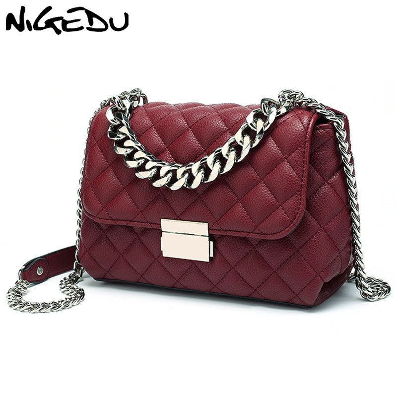 NIGEDU Messenger Bags women Chains Shoulder Bag Diamond lattice luxury handbags women bags designer Female Totes small bolsasNIGEDU Messenger Bags women Chains Shoulder Bag Diamond lattice luxury handbags women bags designer Female Totes small bolsas