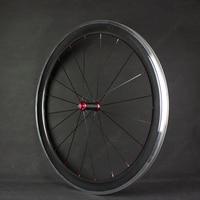 Free Shipping Carbon Wheels Aluminum Alloy Brake Surface/Track 700c 60mm Carbon Fibre Road Bike Road Wheelset