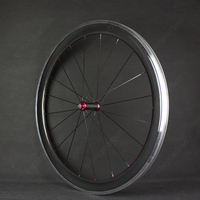 Free Shipping Carbon Wheels Aluminum Alloy Brake Surface/Track 700c 60mm Carbon Fibre Road Bike Road Wheelset