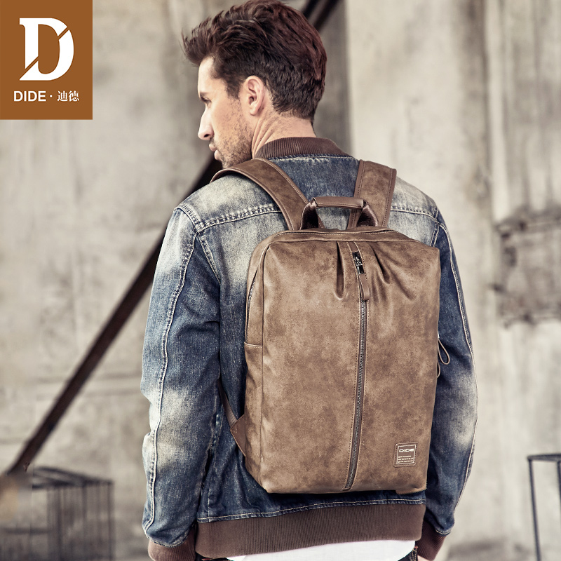 DIDE Men's Casual Backpack Travel Bag Student Bag Fashion Trend Male Backpack waterproof Bagpack 14 15 Inch Laptop Rucksack-in Backpacks from Luggage & Bags    1