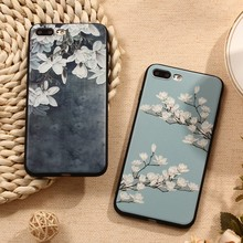 3D Relief Flower Phone Case iPhone 5 5S 6 6S Plus 7 Plus 8 X