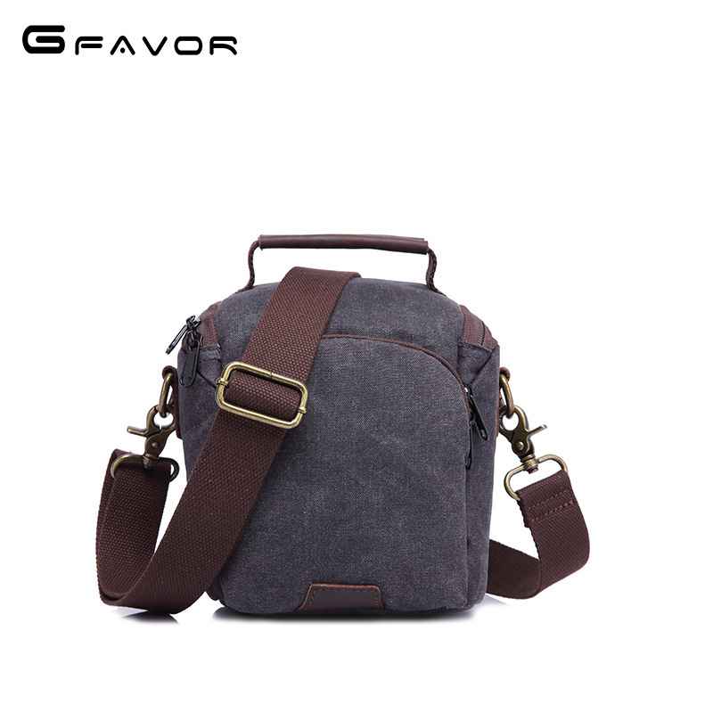G-FAVOR Famous Brand Messenger Bag Men Canvas Waterproof Crossbody Bags 2018 Vintage Mens Protect Shock Travel Camera Bags g favor 2018 canvas leather crossbody bag men military army vintage messenger bags shoulder bag casual travel school bags