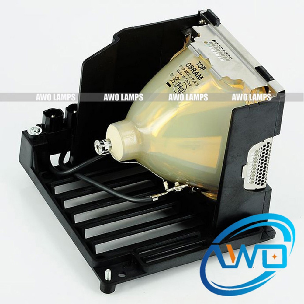 AWO 100% Original Projector Lamp inside POA-LMP101 with Housing VIP300W for SANYO ML-5500 PLC-XP57, PLC XP57L LC-X71 replacement projector lamp bulbs with housing poa lmp59 lmp59 for sanyo plc xt10a plc xt11