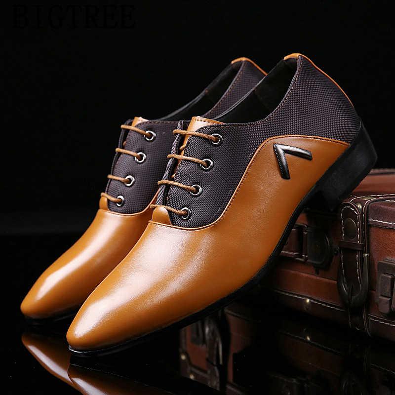 Ý Trọng Nam Đầm Giày Áo Cưới Da Người Giày Oxford Cho Nam Công Sở Scarpe Uomo Eleganti Laarzen Dames