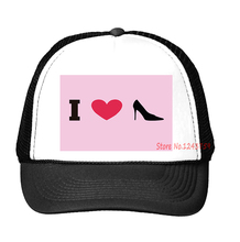 i heart shoes Print Baseball Cap Trucker Hat For Women Men Unisex Mesh Adjustable Size Tumblr Drop Ship M-118