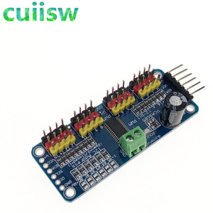 Image 2 - 16 kanal 12 bit PWM/Servo Driver I2C arayüzü PCA9685 modülü arduino veya ahududu pi kalkan modülü servo kalkan