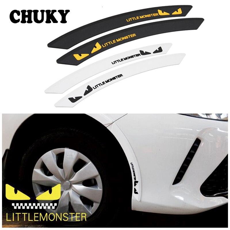 Car Anti Fender Wheel Eyebrow Rubber Bumper Protection Sticker For Mercedes Bens W205 W203 W212 Renault Megane 2 3 Clio Duster