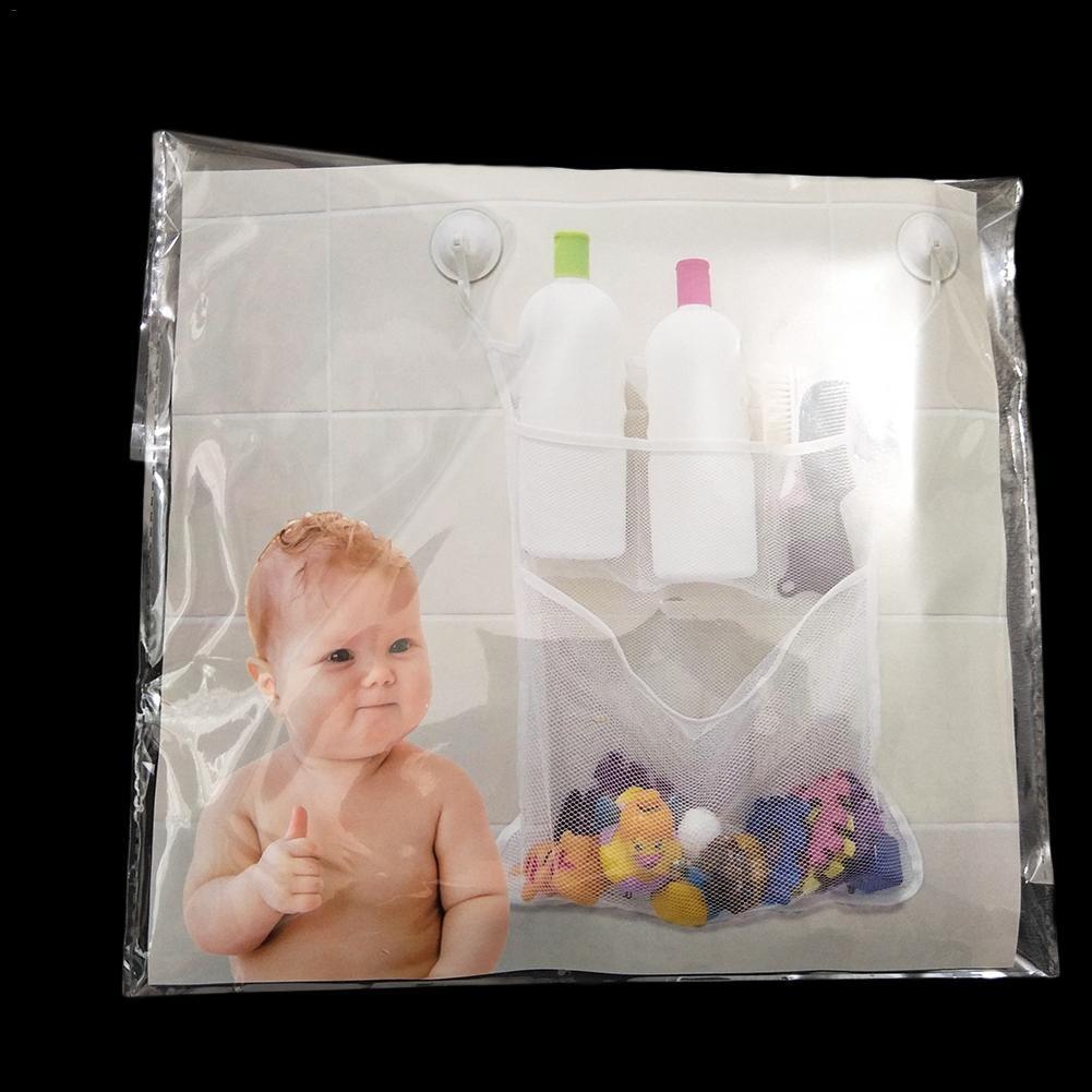 Bathroom Storage Bag Organiser Kids Baby Bath Tub Toy Tidy Storage Suction Cup Bag Mesh Net