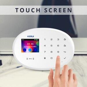 """Image 4 - KERUI système dalarme de sécurité domestique W20, wi fi, GSM, contrôle à distance avec application sans fil, écran 2.4 """", langue commutable, anti cambriolage"""